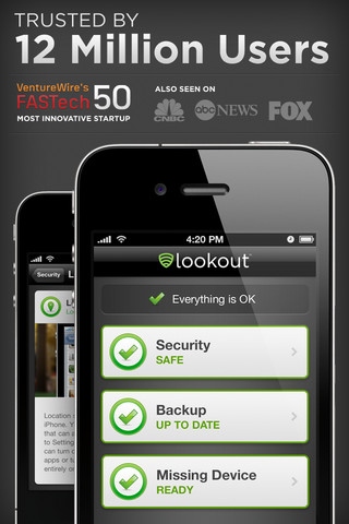 Lookout Mobile Security un nuevo paso en seguridad iPad