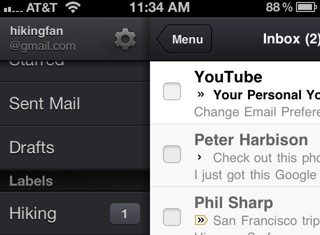 Actualización en Gmail para iOS