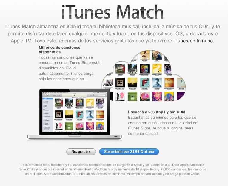 Las suscripciónes a iTunes Match temporalmente suspendidas