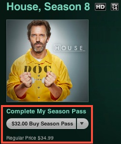 Complete My Season Pass, lo nuevo de Apple