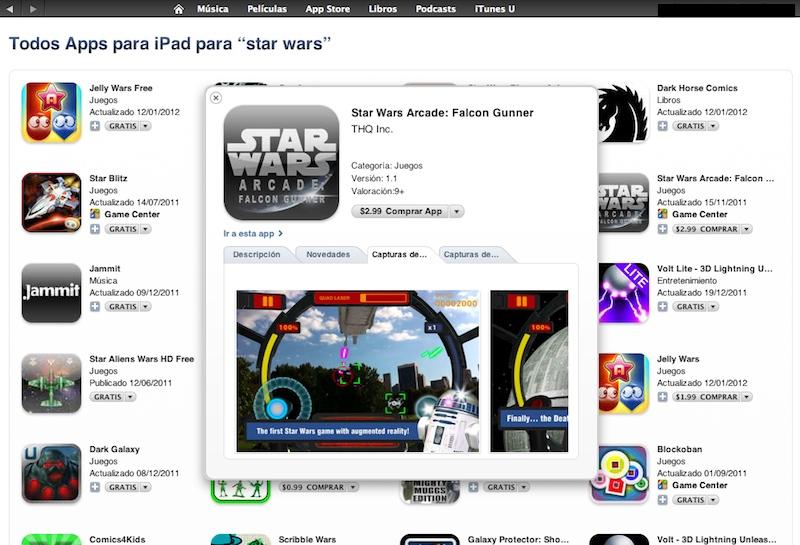 Actualización a iTunes muestra vista previa de su contenido