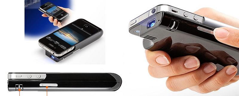 Presentan proyector para iPhone