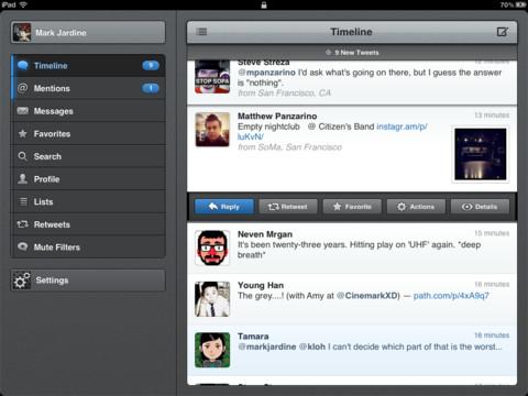 Actualizan Tweetbot para iPhone y presentan la versión para iPad
