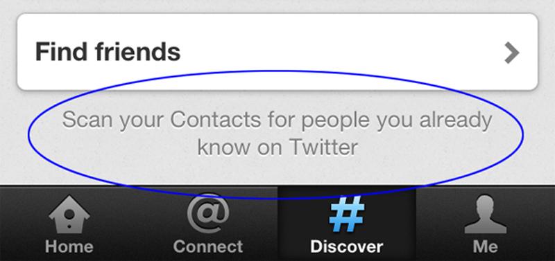 La aplicación de Twitter para iPhone guarda información personal