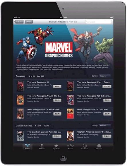 La iBookStore presenta los comics de Marvel