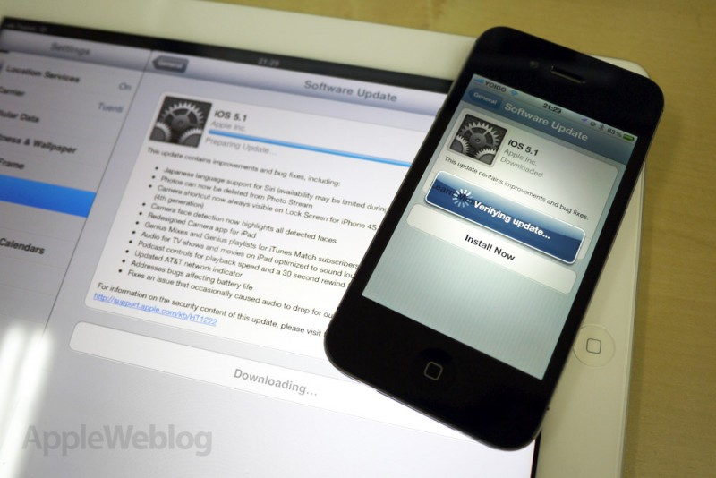 iOS 5.1 por fin disponible
