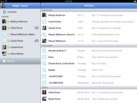 Skype para iPad agrega soporte para pantalla Retina
