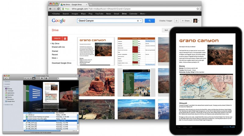 Google Drive disponible para OS X
