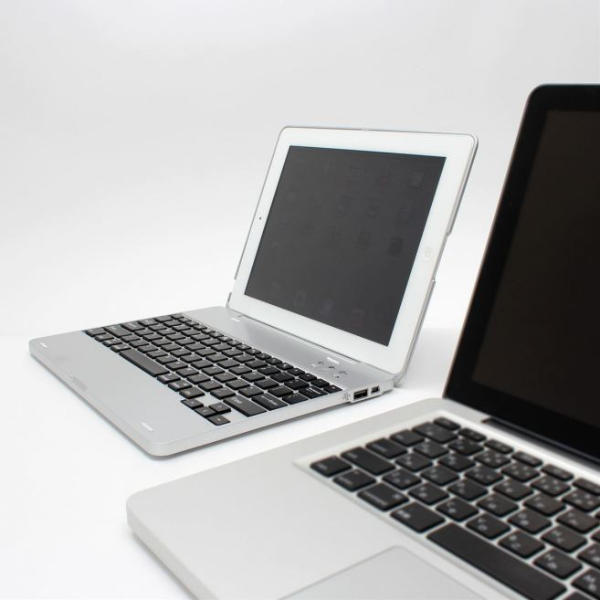 Funda para iPad estilo MacBook