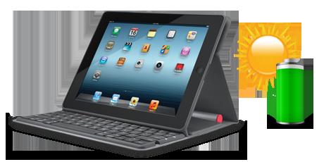 Teclado solar de Logitech para iPad