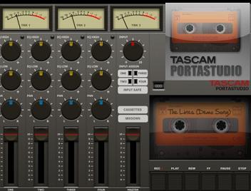 Portastudio permite grabar audio desde ipad