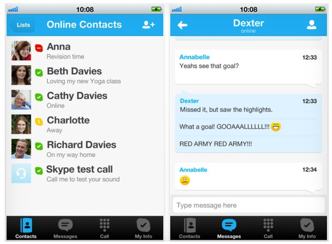La nueva versión de Skype también llega a iOS
